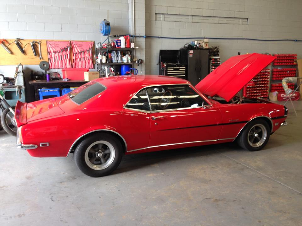 We had a regular customer's 68 Camaro in for some engine upgrades and general tidy-up.