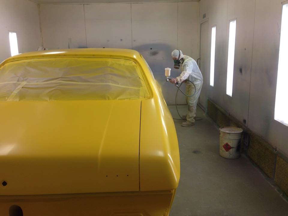 Yellow Holden HQ GTS sedan restoration (1).jpg