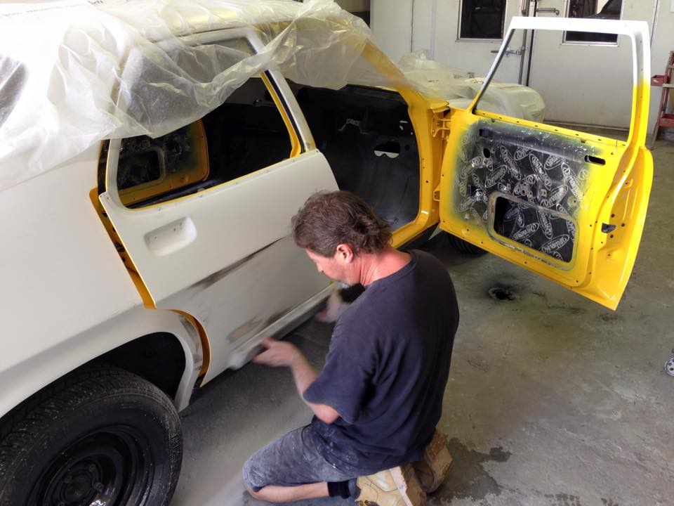 Yellow Holden HQ GTS sedan restoration (2).jpg