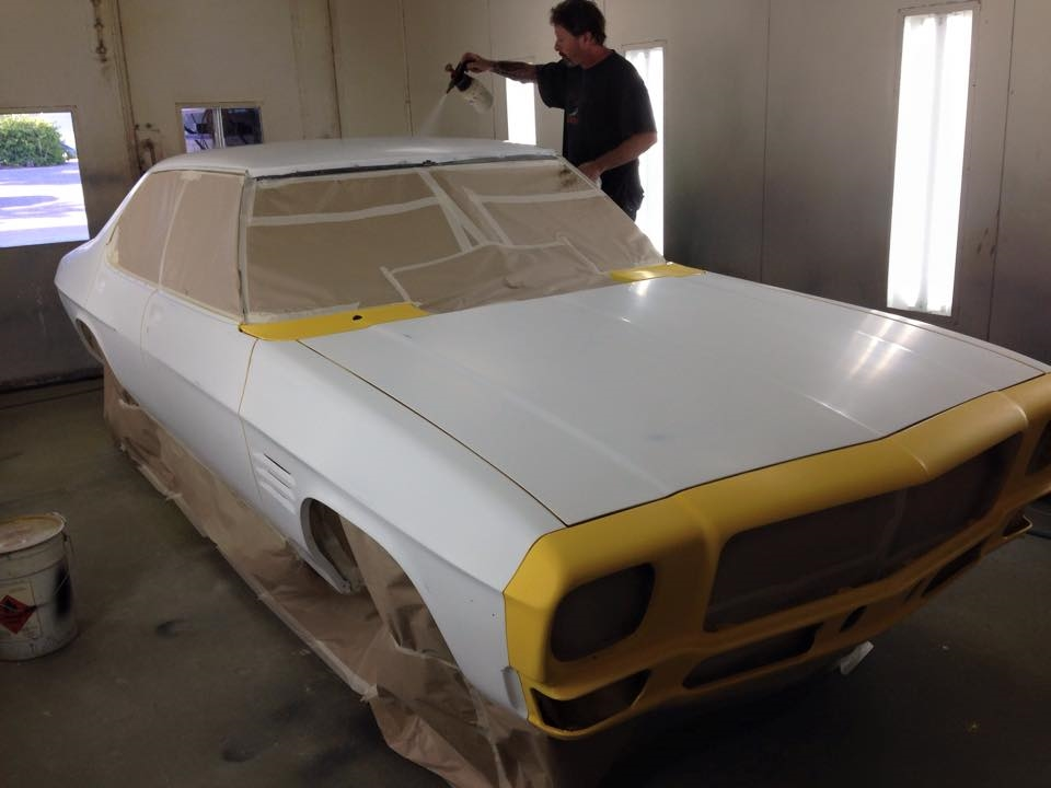 Yellow Holden HQ GTS sedan restoration (4).jpg