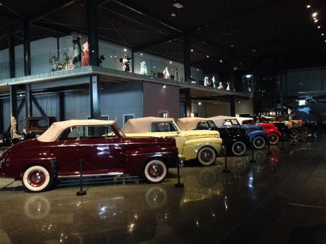 A line up of Ford's at Transport World covering every model from 1928 to 1946. Just part of the fantastic classic car collection.