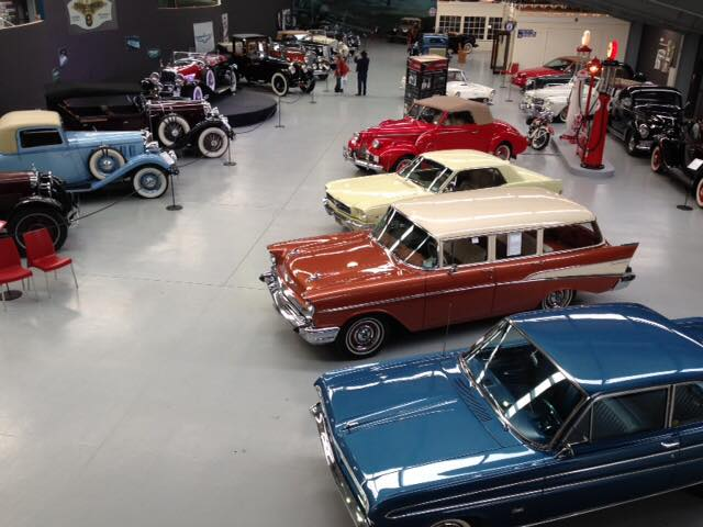 The Warbirds and Wheels museum has a great collection of cars.