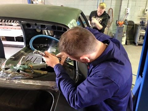 Roland and Trent will be finishing off the metal work on the HJ Monaro.