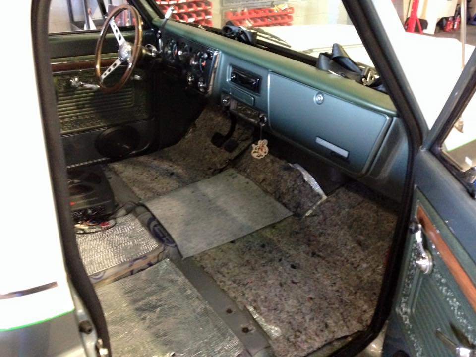 Our trimmer will be installing new carpet in the 70 C10.