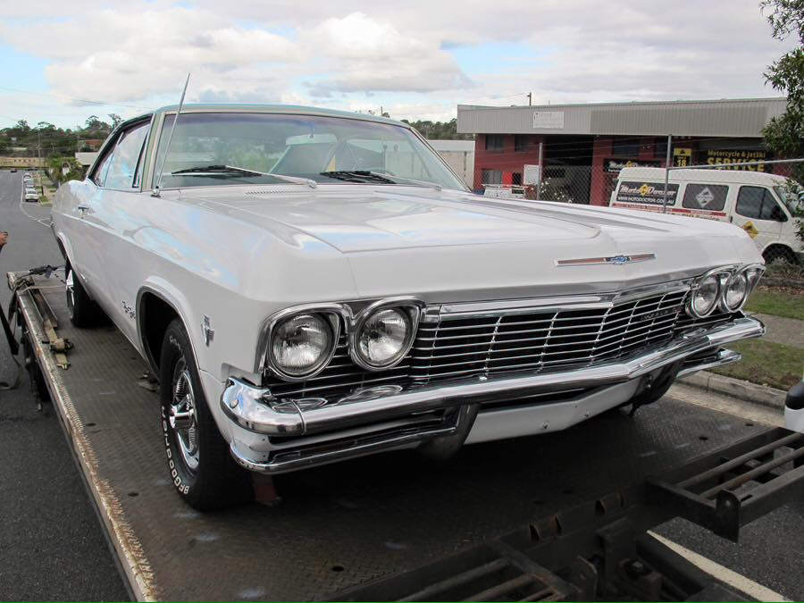 And even though we don't sell cars anymore, a bloke from Adelaide wanted to look at my 65 Impala...he wouldn't take 'no' for an answer...so we loaded it on a truck bound for Adelaide today.