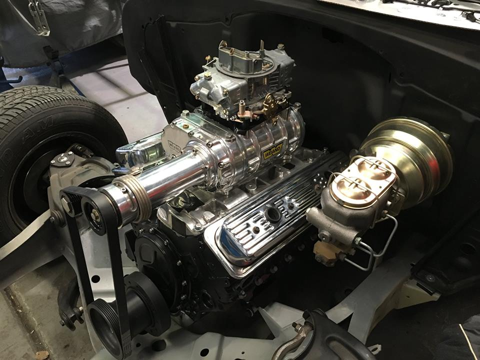 The blown and stroked small block will provide this cruiser with some serious power.