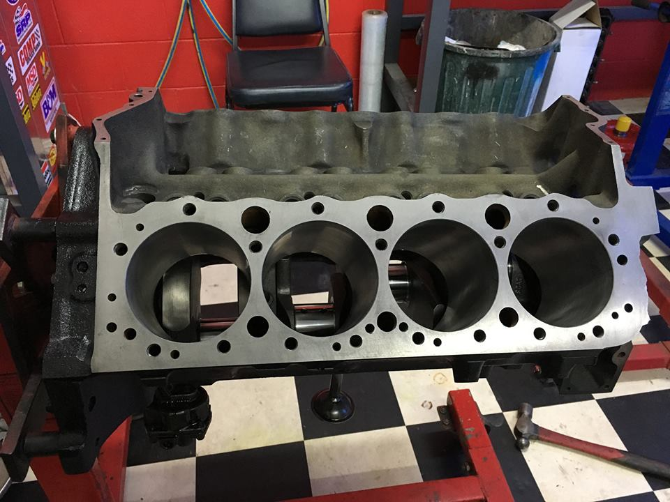 The freshly machined block ready for assembly.
