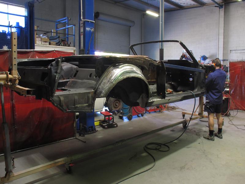 Automotive Restoration - Brisbane Queensland - Ol' School Garage - Ford Mustang Convertible (12).jpg