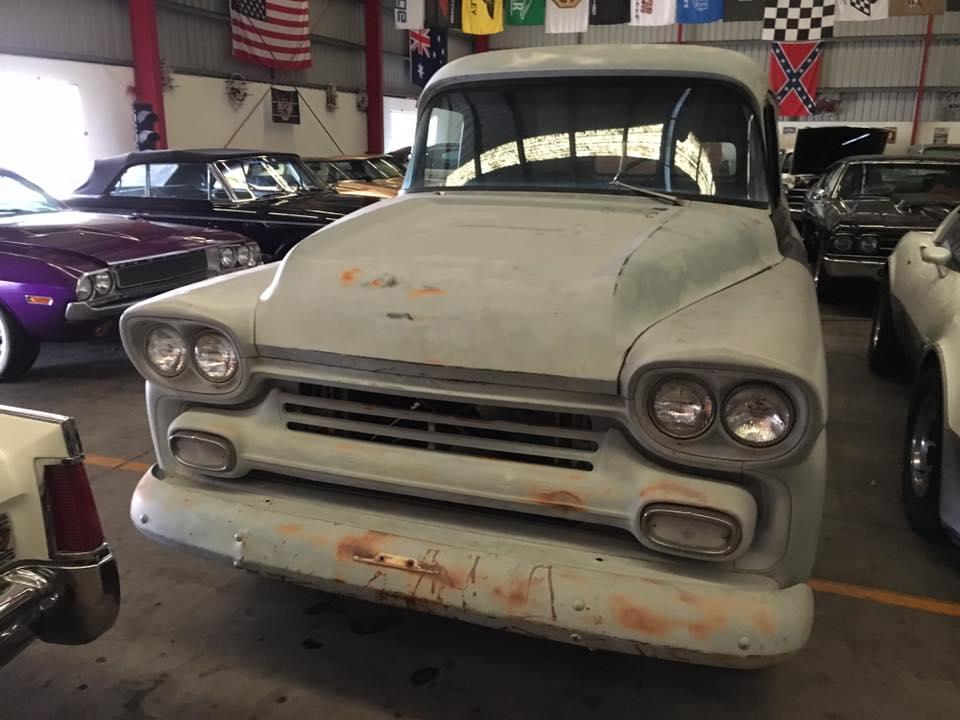 1959 Chevrolet Panel Truck - LS drivetrain Mustang 2 front end - Ol' School Garage (4).jpg
