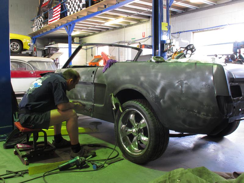 Brisbane 1966 Ford Mustang Convertible - Restoration Project Build - Ol' School Garage (43).jpg