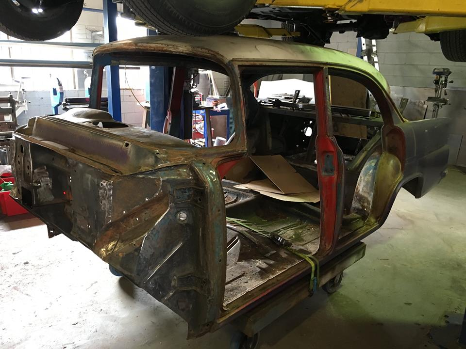 And Mark finished the disassembly of the EK Holden and it's now ready for sandblasting.