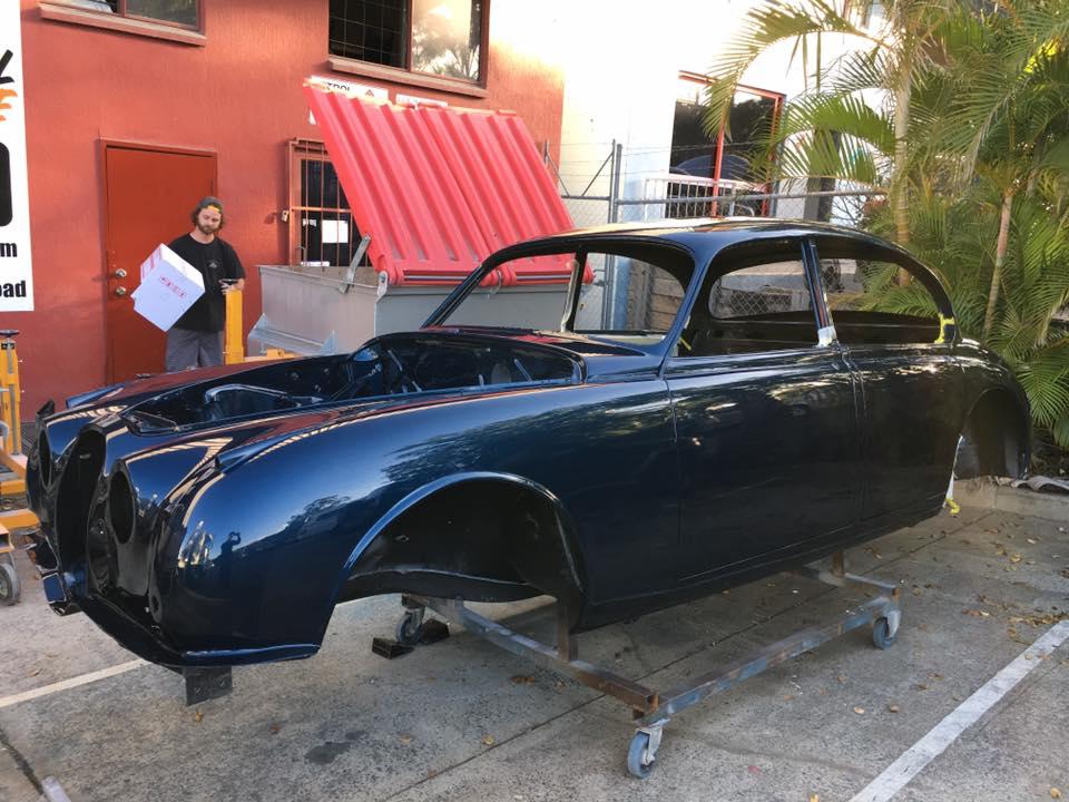 '63 Mark II Jaguar Brisbane Gold Coast Paint - Restoration (3).jpg