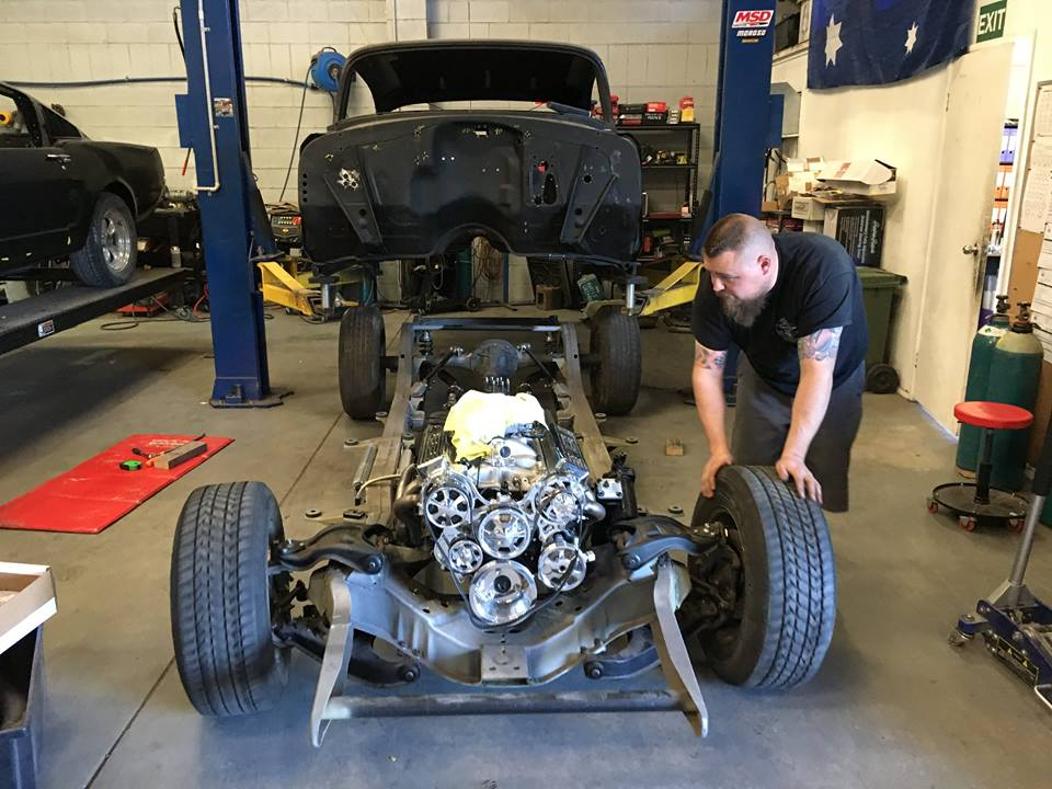 Earlier in the week the body came off the chassis.