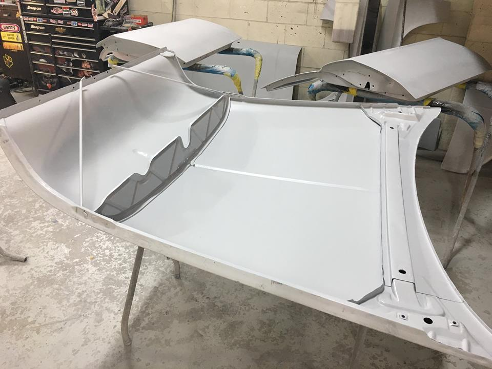 Paint prep has already started on the panels.
