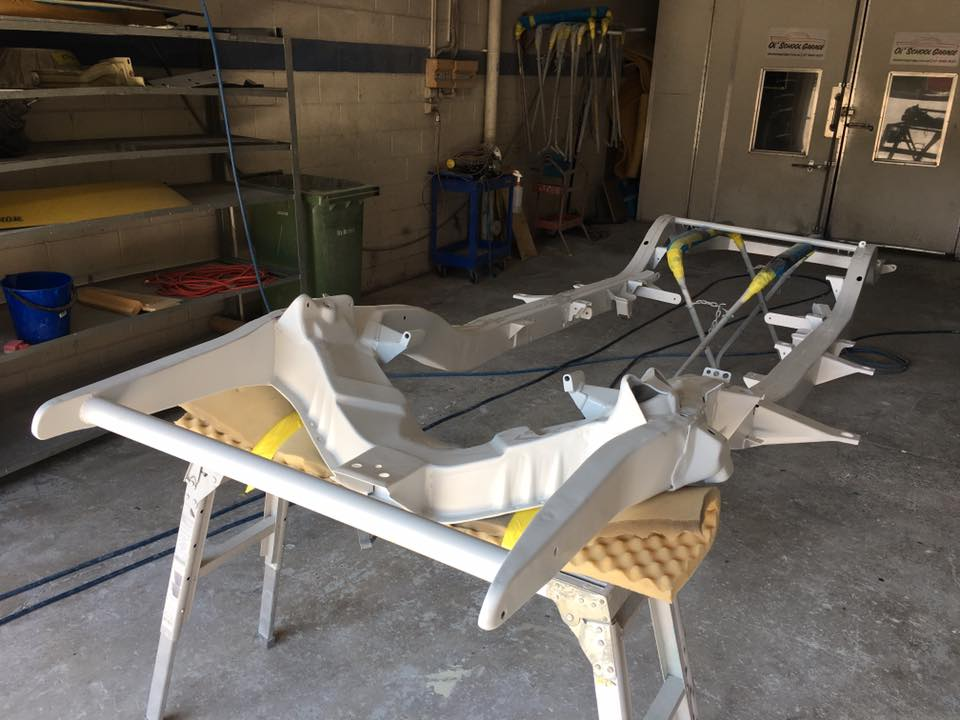 Good progress has been made on smoothing the chassis...but it will require a few more days until it's ready for primer.