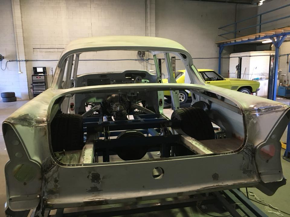 The drivetrain of our EK project had been installed and the chassis mods are complete. The fabrication of the custom floor is now well underway.
