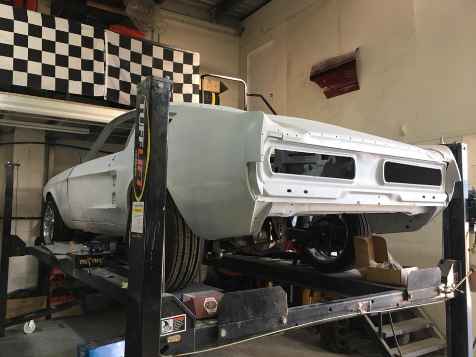 We've done all we can on our '67 Mustang Eleanor until we received the engine, transmission and body kit out of the US next month.