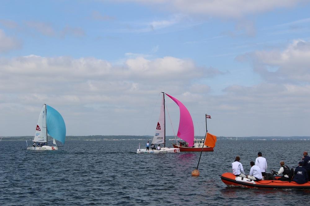 Faaborg sejlklub ses her som suveræn vinder af 6. sejlads i Rungsted