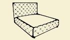 W 240-160 Breite: 190 cmTiefe: 230 cm Höhe: 133 cm Sitzhöhe: 53-63 cm Liegefläche: 160 x 200 cm