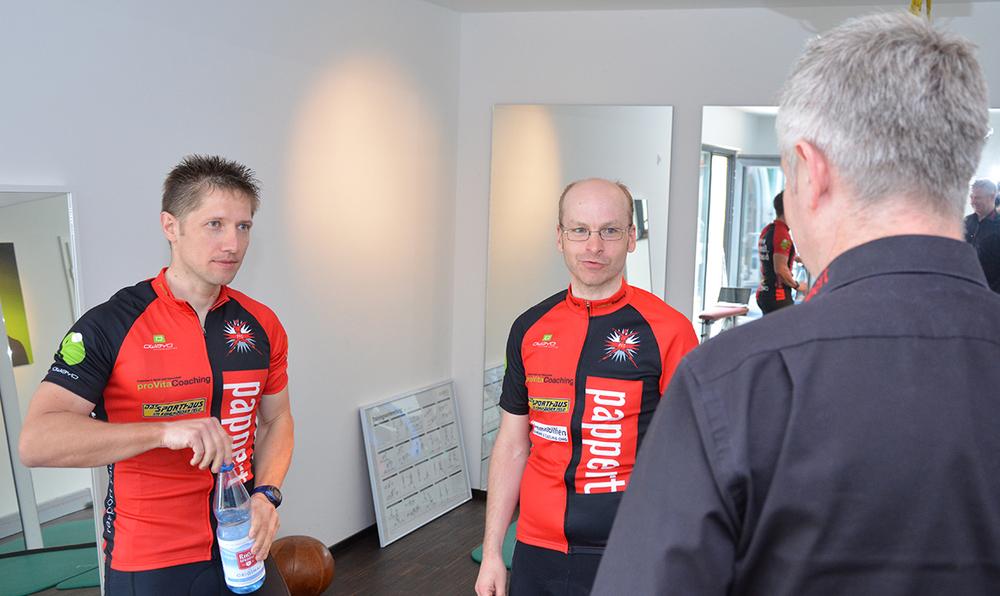 Torsten Leitschuh (links) und Marcus Hahnke starten im pappert.-Trikot.