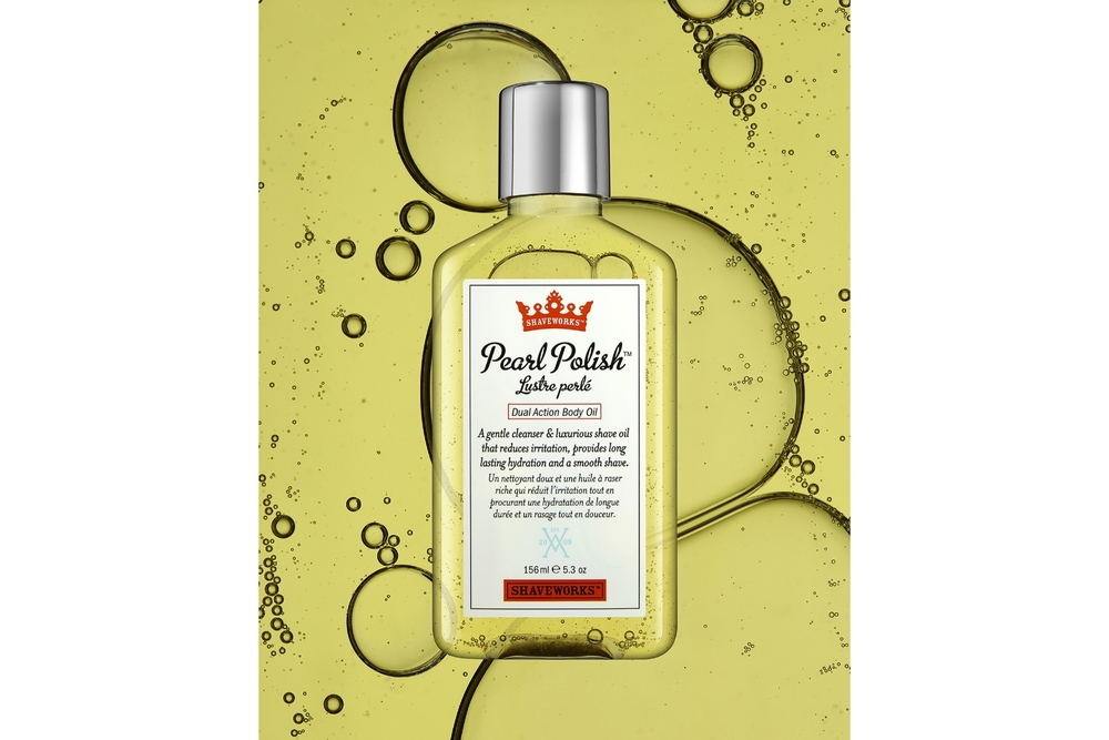 Shaveworks Pearl Polish Cosmetics Photography by Simon Lyle Ritchie