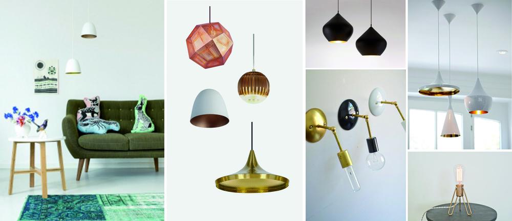 5x koper en brons lampen.jpg