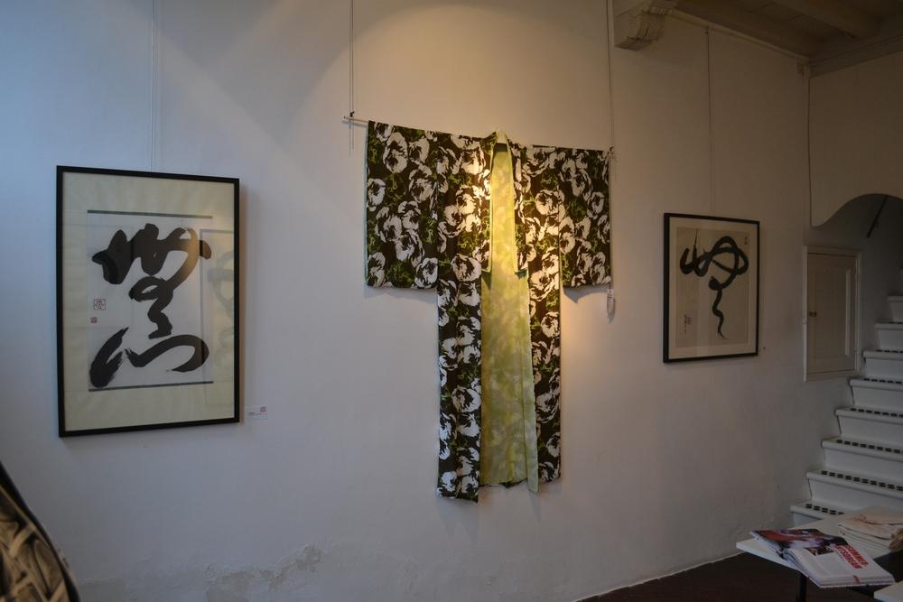 Tentoonstelling 2011 werk en kimono.JPG