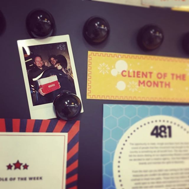 Officially part of the furniture @theofficegroup #clientofthemonth #thewhitecollarfactory #freebeer #banterbus #heyguys