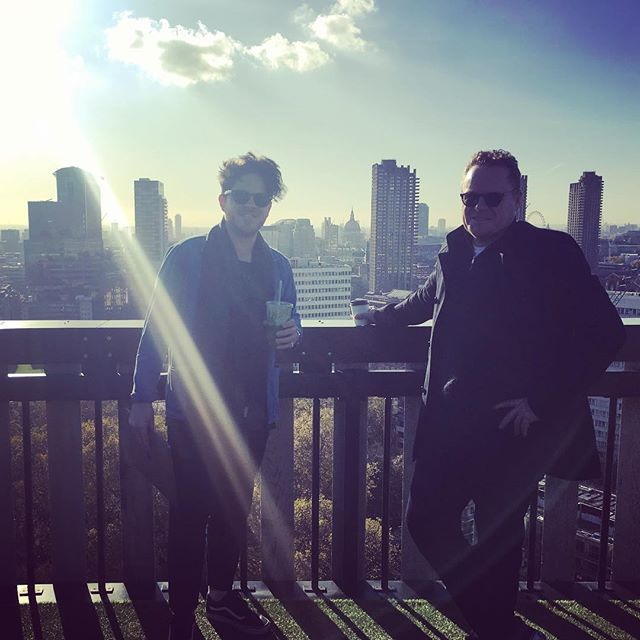 Just a couple of handsome CEOs enjoying the view #rooflife #pretendingtowork #foreheadvsfringe