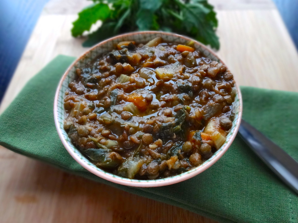 French Lentil Soup w/Turnip, Parsnip & Quelites — Veggies & Gin