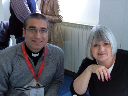 Rev. Saoud Bahi and The Outreach Foundation's Associate Director Marilyn Borst