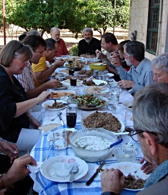 Dining al fresco on Rev. Ma'an's patio