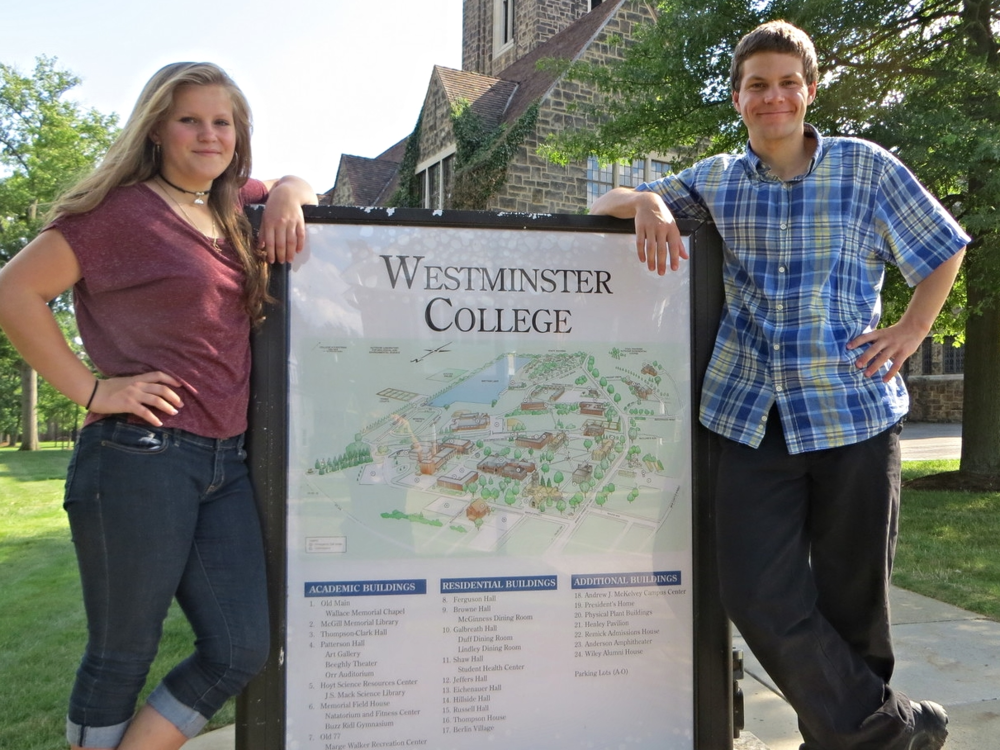 Robert and Frances at Westminster College