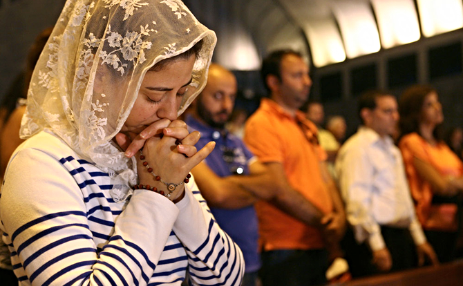 Distraught over the violence in northeastern Syria, Assyrian Christians pray for the safety of their fellow brothers and sisters.