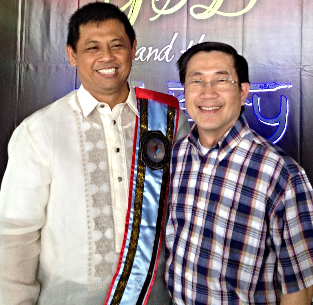 Peter (right) with Bible college president Rev. Dave Dasig