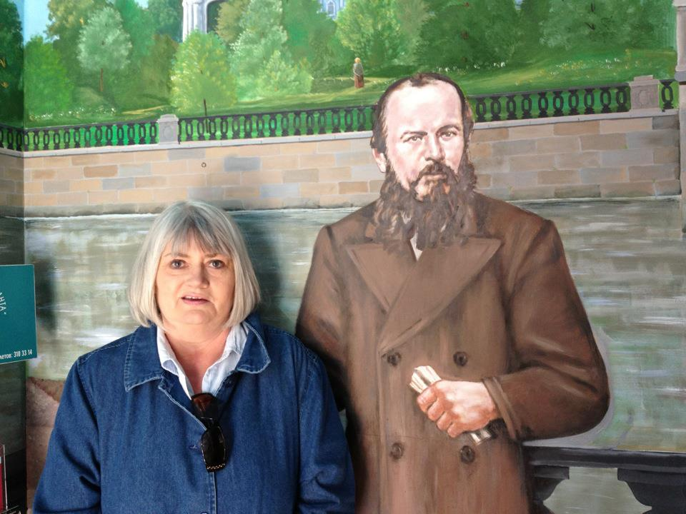 Marilyn and Dostoevsky having a one-sided chat