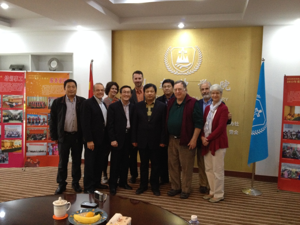 The complete team with the Shandong Christian Provincial Council