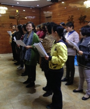 You can see the contagious spirit of the new church's choir!