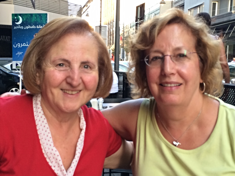 Dr. Mary Mikhael, retired president of the Near East School of Theology in Beirut, and Nancy Gatzke of Omaha, Nebraska, meet for the first time.