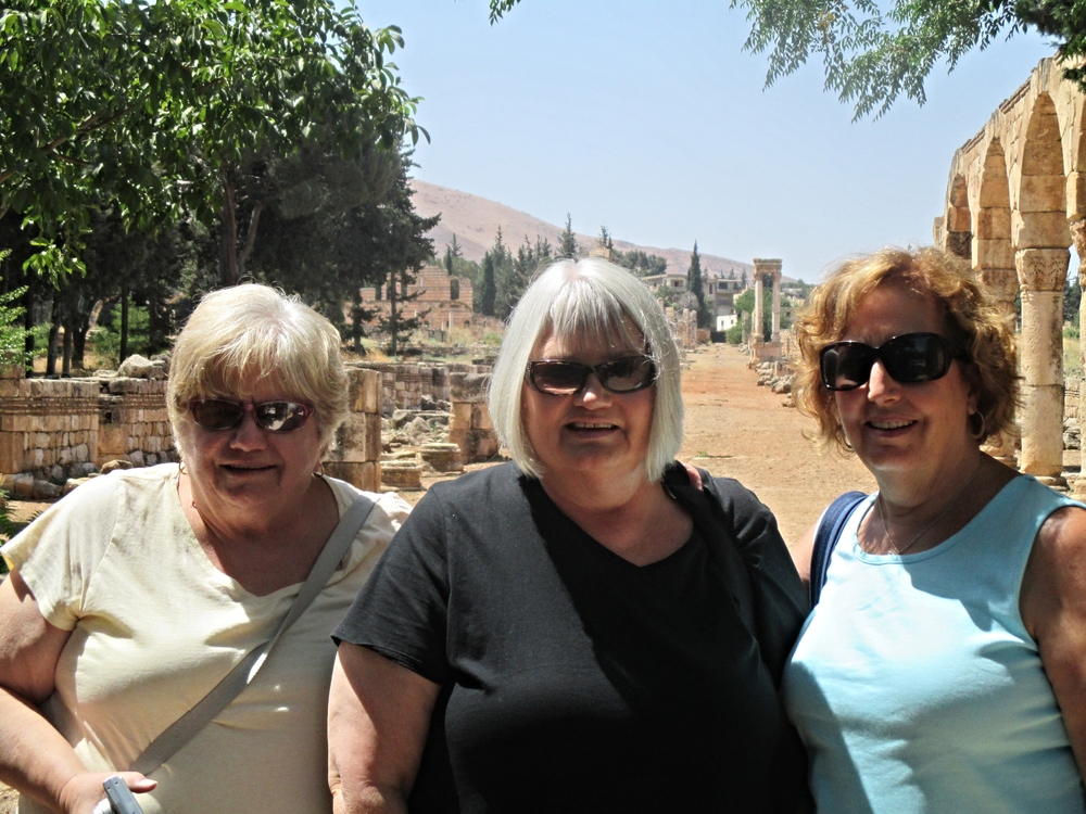 Meryl, Marilyn and Patti on the Cordo in Anjar.