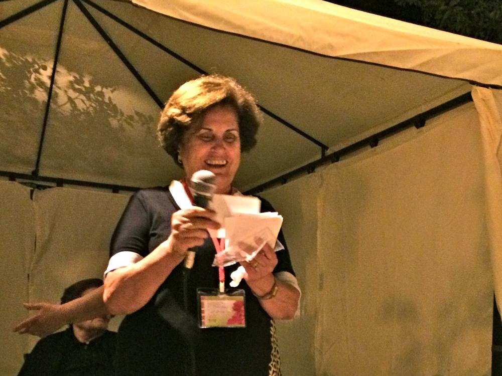 Mouna Awad of Latakia: nurse and caregiver, faithful woman, stand-up comedienne.