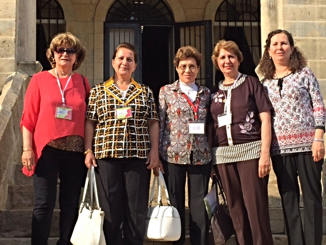 The ladies from the Iraqi churches, Belsam is second from the right. She is from Basrah and the others are from Baghdad and Kirkuk.