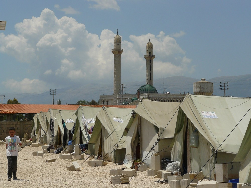 A Syrian refugee camp in Lebanon supported, in part, by the Evangelical (Presbyterian) Synod of Syria and Lebanon.