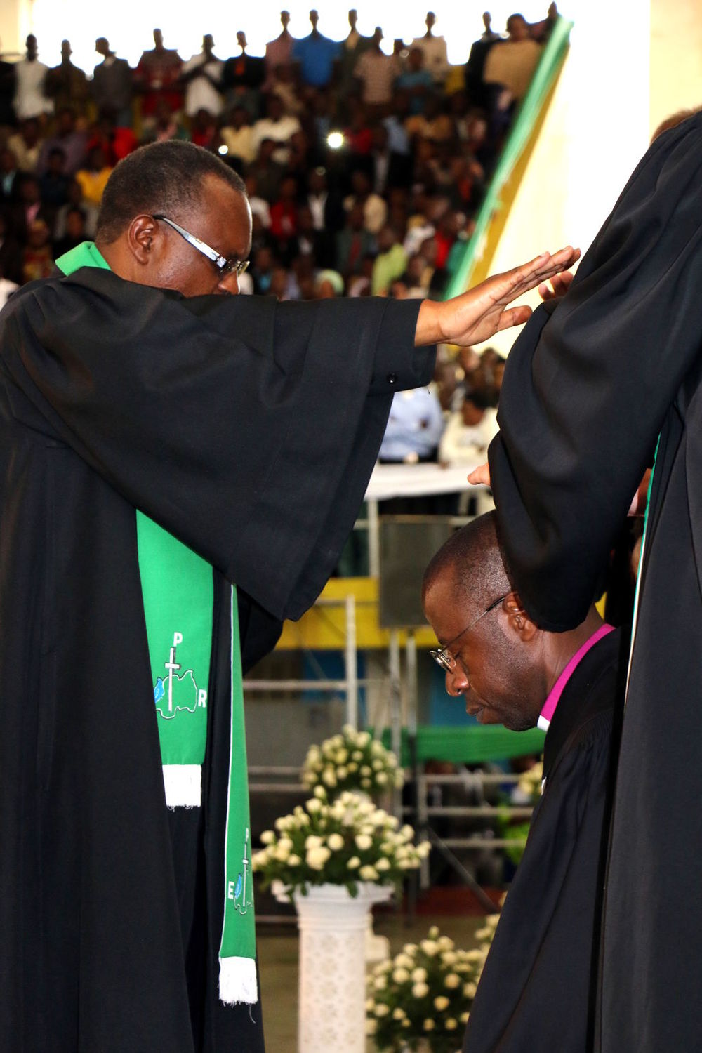 Rev. Dr. Pascal being installed as a leader by the Presbyterian Church of Rwanda