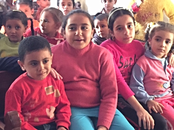 Sunday School children in Gabal Asfar