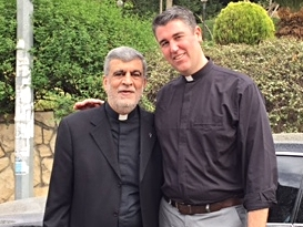 Rev. George Mourad with Ryan Moore