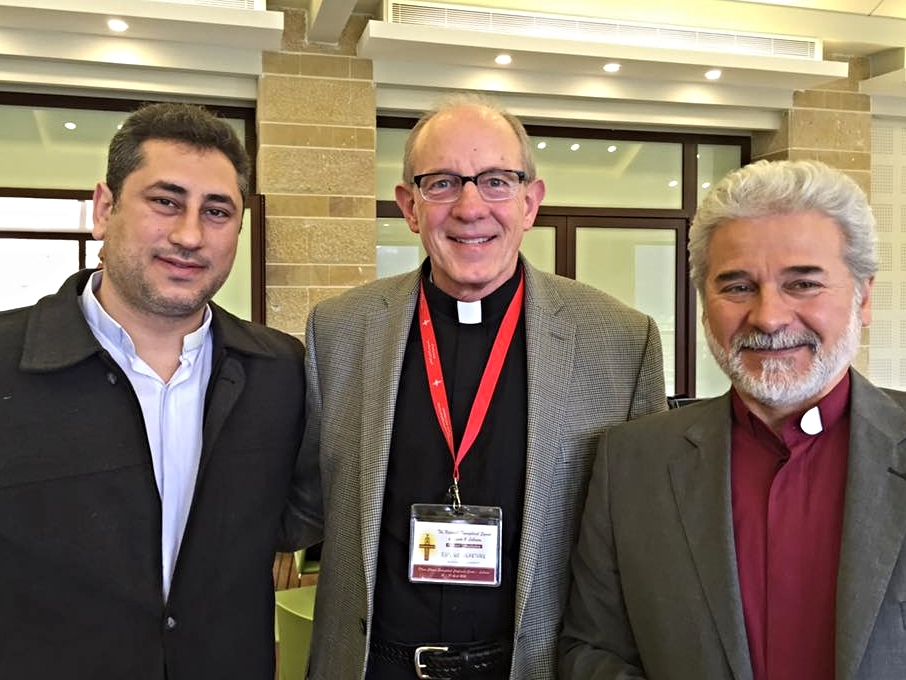 Rob with Rev. Firas Ferah of Qamishli and Rev. Ma'an Bitar of Mhardeh