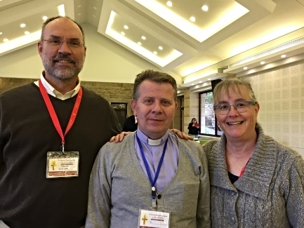 Steve and Julie Burgess with Rev. Ibrahim Nseir of Aleppo
