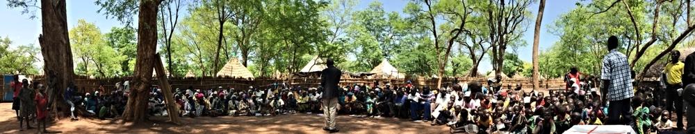 Students, teachers and Kondiaal Church family, Kule 2 camp
