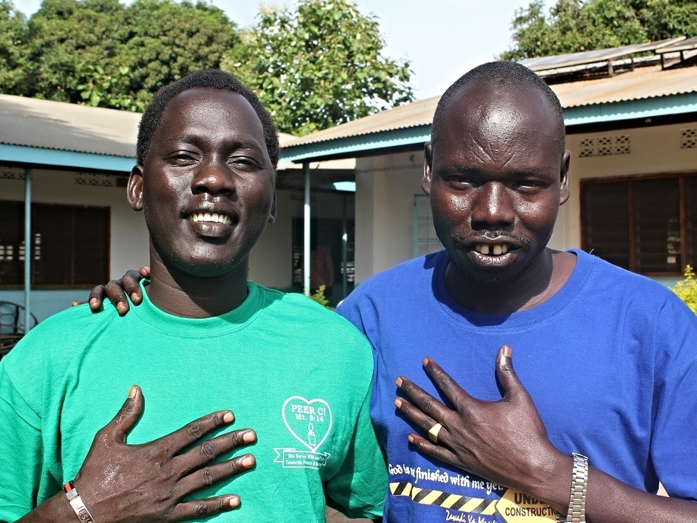 Rev. Jacob Kunyuat Jany, left, and Rev. Michael Machar